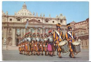Swiss Guards Parade Vatican City Italy Vintage 4X6 Postcard