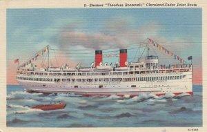 Steamer THEODORE ROOSEVELT, 1930-40s; Cleveland-Cedar Point Route