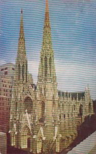 Saint Patricks Cathedral Is Located On Fifth Avenue At 50th Street New York C...