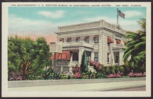 US Weather Bureau,Key West,FL Postcard