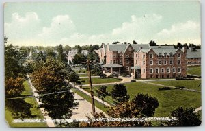 Swarthmore PA~Birdseye Panorama~Campus of Preparatory School~c1910 0