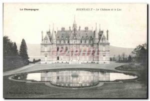 Old Postcard Chateau Boursault Champagne and Lac