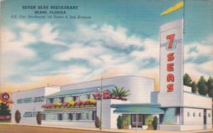 Florida Miami Seven Seas Restaurant 1952