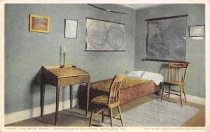 Portland Maine~Longfellow's Home~Boys' Room~Maps on Walls~#13846 Detroit Pub Co