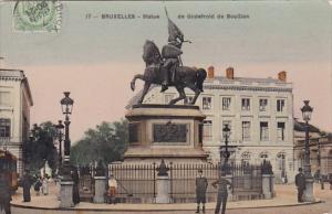 Belgium Brussels Bruxelles Monument Statue De Godefroid De Bouillon 1903