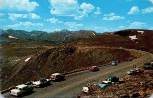 Colorado Rocky Mountains Tundra Curves On The Trail Ridge Road