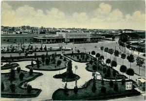 CARTOLINA d'Epoca - TREVISO Città: STAZIONE CENTRALE TRENI 1955