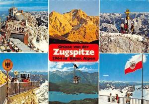 Gruesse von der Zugspitze Bayer. Wald Gipfelstation Alpengluehen Ostgipfel