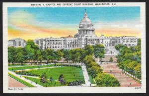 Capitol & Supreme Court Bldgs Washington DC unused c1940's