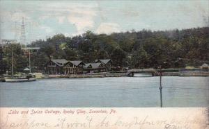 Pennsylvania Scranton Lake And Swiss Cottage Rocky Glen 1909