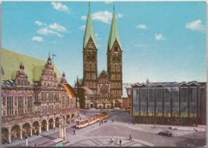 BREMEN, Rathaus, Dom und Haus der Burgerschaft, unused Postcard