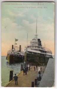 Harbor, Steamship City of Cleveland & Detroit, Detroit MI