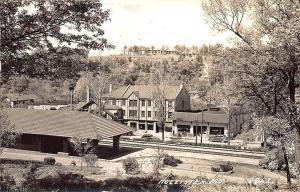 Hollister MO Post Office Railroad Station Train Depot RPPC Postcard