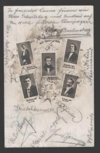 116205 STRAUSS Family of COMPOSERs vintage PHOTO COLLAGE RARE