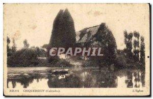 Postcard Old Criquebceuf Calvados
