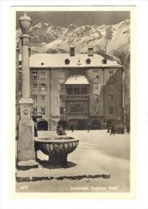 RP  Winter view, Innsbruck , Austria, 20-40s   Goldens Dachl