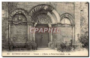 Around Royan Old Postcard L & # 39eglise The Talmont portal