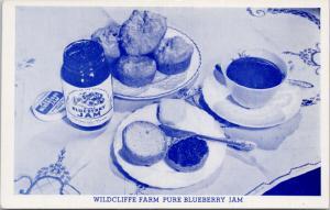Wildcliffe Farm Blueberry Jam Ad Advertising Bothell WA Washington Postcard E47