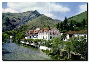 Postcard Modern Reflections of the Basque Country Saint Etienne de Baigorry H...