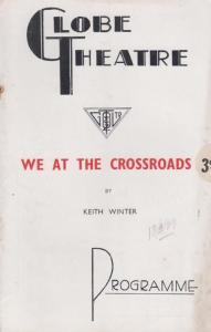 We At The Crossroads Drama Hugh Williams The Globe Rare Old London Theatre Pr...