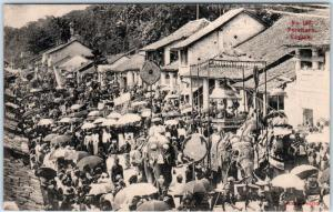 KANDY PERAHERA, CEYLON now Sri Lanka  PROCESSION Festival of the Tooth  Postcard