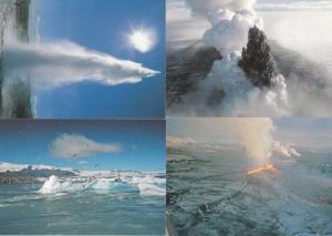 Iceland Vatnajokull Glacier Krafia Fissure 4x Eruption Postcard s