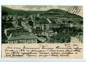 131489 GERMANY Karlsbad Westend Vintage RPPC posted to RUSSIA