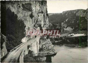 Modern Postcard Gorges of Ardeche Pont d'Arc The Road