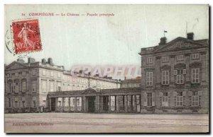 Postcard Old Compiegne Chateau main Facade