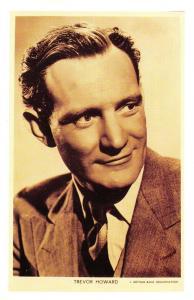 Nostalgia Postcard Actor Trevor Howard 1916-1988 Reproduction Card NS36