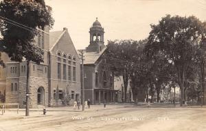 Leominster Massachusetts~West Street Church~Downtown~Good Girls Scarce~1913 RPPC