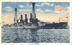 USS Kansas Military Battleship 1918