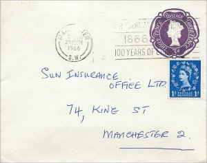 Entier Postal Stationery Postal Great Britain Great Britain 1966 Manchester