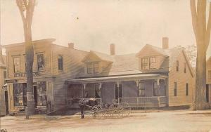 Norridgewock ME General Store Lawyer's Office Horse & Wagon Real Photo Postcard