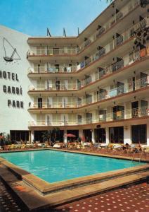 Hotel Garbi Park Lloret De Mar Swimming Pool Spanish Postcard