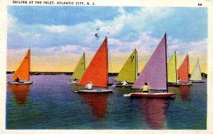 NJ - Atlantic City. Sailing at the Inlet
