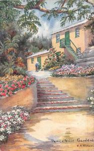 Bermuda Par-La-Ville Gardens signed C.F. Tucker
