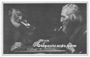 Old Vintage Chess / Checkers Postcard Post Card Oliver Ingersoll, model for W...