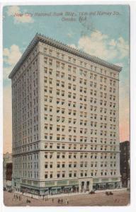 City National Bank Omaha Nebraska 1913 postcard