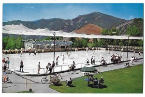 Sun Valley Idaho Open Air Olympic Size Ice Skating Rink 1966