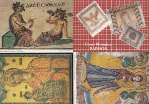 Paphos Mosaic Cyprus 4x Postcard s
