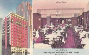 New York City Hotel Bristol Pink Elephant Restaurant Bar And Lounge Bristol Room