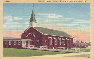 Ohio Cambridge View Of Chapel Fietcher General Hospital Albertype