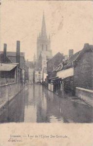 Tour De l'Eglise Ste. Gertrude, Louvain (Flemish Brabant), Belgium, PU-1915