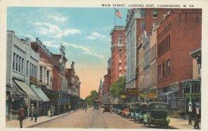 CLARKSBURG , West Virginia, 1910s; Main Street , Looking East