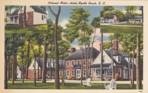 MYRTLE BEACH, South Carolina, 1930-40s: Colonial Motor Hotel, 3-views