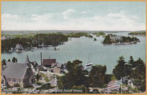 Thousand Islands, New York, View from Thousand Islands House-1910