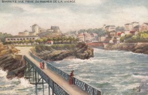 BIARRITZ, France, 1900-10s; View from Rock of the Virgin ; TUCK 7584