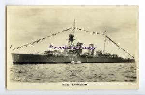 na6008 - Royal Navy Warship - HMS Effingham - postcard