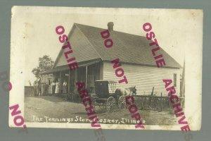 Casner ILLINOIS RPPC 1913 GENERAL STORE nr Decatur Mt. Zion La Place GHOST TOWN